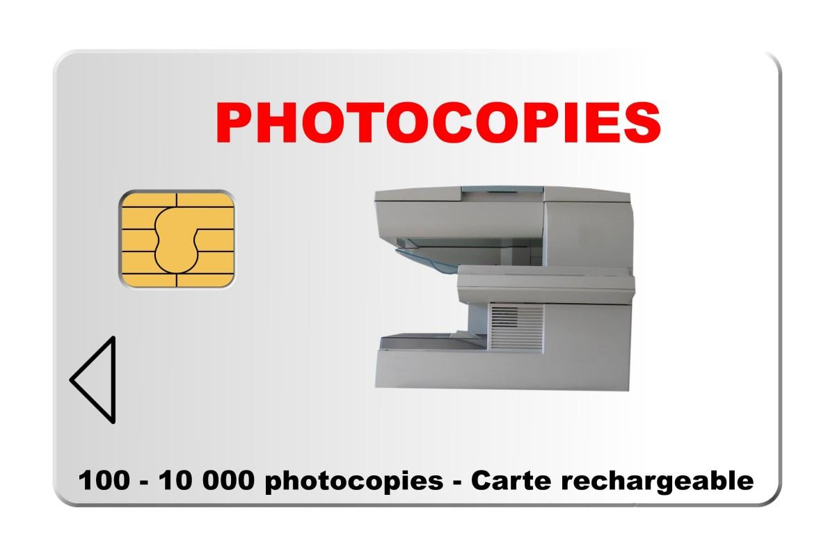 carte paiement copieur