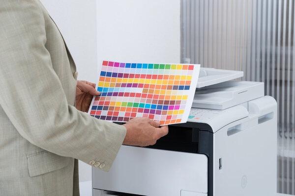Nuancier couleurs de base photocopieur