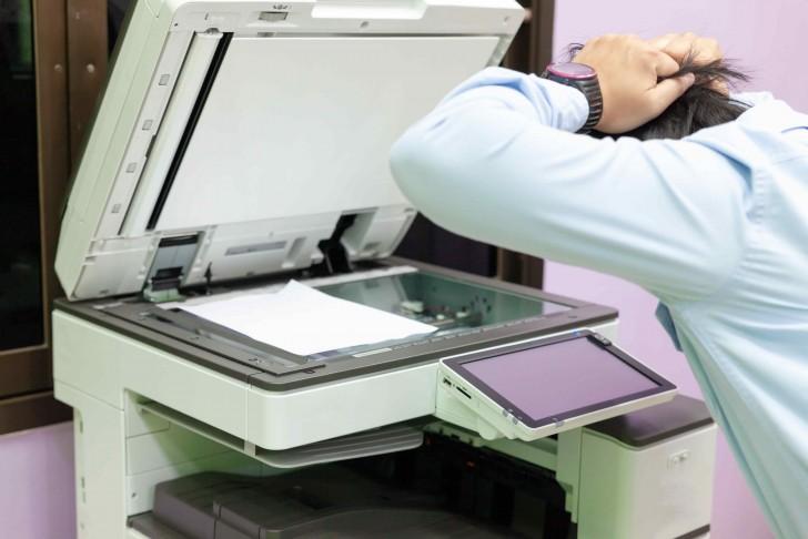 panne photocopieur bureau